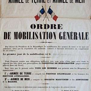 Ordre de mobilisation générale. (Archives départementales des Deux-Sèvres R 202/6.)