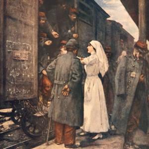 Tableau Le train des blessés, par Henri Gervex. (Dans L'Illustration du 20 février 1915.)