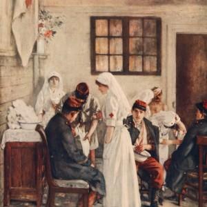 Tableau L'ambulance de la gare de Poitiers, par Henri Gervex. (Dans L'Illustration du 11 septembre 1915.)