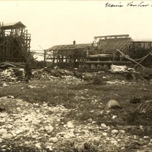 Dégâts causés par l'explosion de l'usine Vandier. (Archives municipales de La Rochelle 10 Fi 635.)