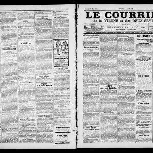 Le Courrier de la Vienne et des Deux-Sèvres, du 1er mai 1915. (Archives départementales de la Vienne/ Médiathèque François Mitterrand, Poitiers, image publiée avec autorisation.)