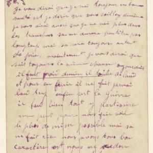 Lettre du 22 février 1918 de Jules Gradelle à ses beau-frère et belle-sœur. (Collection particulière.)