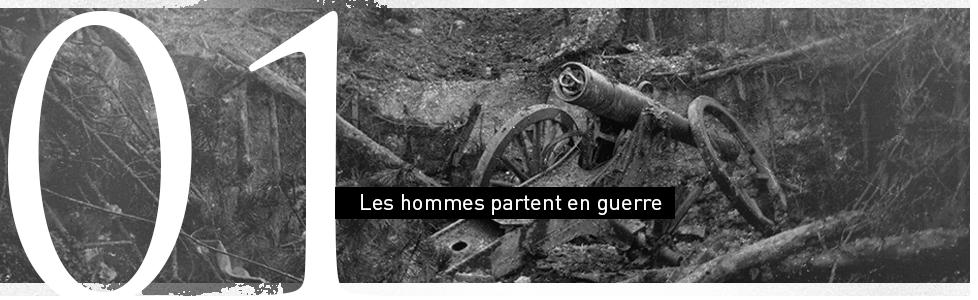 Les hommes partent en guerre