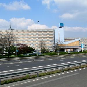 MAAF à Chauray (Deux-Sèvres). Cette mutuelle est créée par les artisans en 1951.