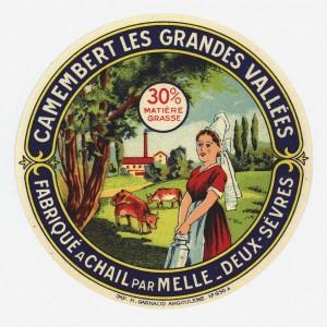 Etiquette de fromage de la laiterie coopérative de Chail (Deux-Sèvres).