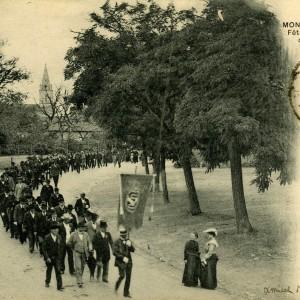 Cette Société, fondée en 1845, a été dissoute entre 1867 et 1870, puis reconstituée en octobre 1870 sous le nom de L'Union société mutuelle libre. L'immeuble a été vendu en 1999 à la ville de Marans. Photographie P. Toucas.
